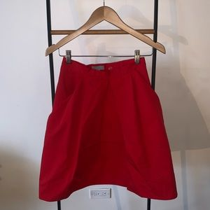 Cos Boxy Red Bubble Skirt